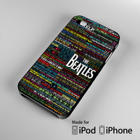 the beatles typography song lyric iPhone 4 4S 5 5S 5C 6, iPod Touch 4 5 Cases