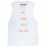 Sushi All Mine Muscle Tee - White