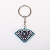 Rubber OG Sign Key Chain in Diamond Blue