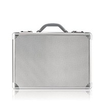 "Solo 17.3"" Laptop Attaché, Hard-sided with Combination Locks, Silver, AC100-10"