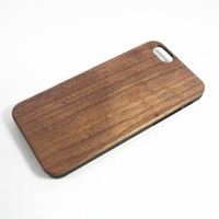 Generic Cell Phone Case for iPhone 6 Plain PVC Walnut Wood
