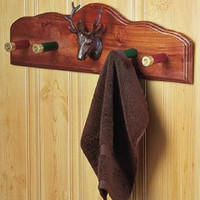 Wall Hook Shotgun Shell Bathroom Accessories Rustic Country Lodge Cabin