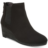 Dr. Scholl's Critic Wedge Booties Shoes - Boots - Macy's