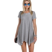 Promo- Navy Comfort Me Striped Tunic