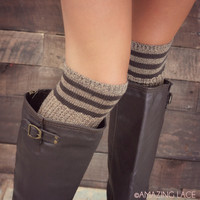 Whistling Yards Striped Knee High Socks