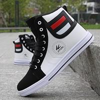 Skateboarding Shoes High Top Leisure Sneakers Breathable Street Shoes Sports Shoes Hip Hop Walking Shoes