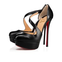 Christian Louboutin Cl Decalcoco Black Leather 18s Platforms 1180319bk01 -