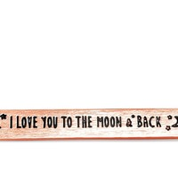 """Rose Gold """"I Love You To The Moon And Back"""" Necklace"""