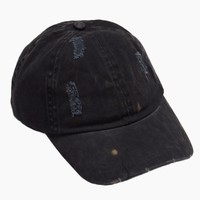 Washed Out Distressed Baseball Cap - Navy