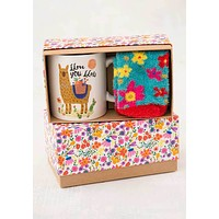 Llama Mug and Sock Set