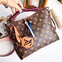 LV BEAUBOURG HOBO woven handle handbag bag