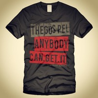 """The GOSPEL.ANYBODY.CAN.GET.IT"" Mark 16:15 And he said unto them, Go ... - crossstitchapparel @ Instagram Web Interface - 5th village"