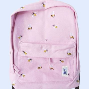 Bee Embroidery Back Pack