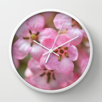 Pinkies Wall Clock by Lisa Argyropoulos
