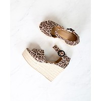 Sassy Espadrille Wedges in Leopard