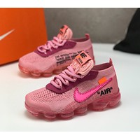 Nike Air Vapormax Flyknit TD Air cushion children Gym shoes
