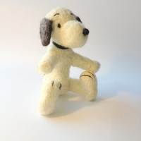 Needle Felted Snoopy Kids Toy