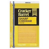 Cracker Barrel Sharp Cheddar Cheese Slices - 11ct