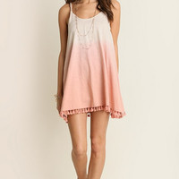 Umgee USA Blush Ombre Cover Up Dress