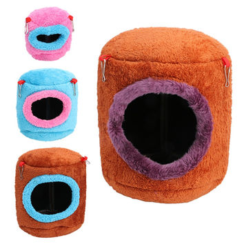 New Hammock For Ferret Rabbit Rat Hamster Squirrel Parrot Hanging Bed Toy House