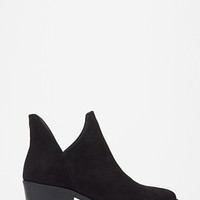 V-Cut Faux Suede Booties