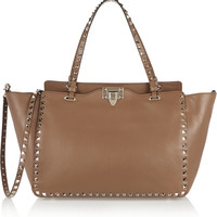 Valentino - The Rockstud medium leather tote