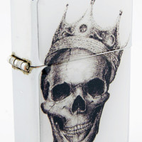 Windproof Customized Chrome Oil Lighter - Skull Crown - Collectable, Refillable, Damn Cool. :)