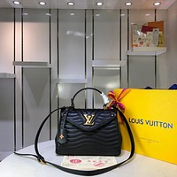 LV Louis Vuitton WOMEN'S LEATHER New Wave Top Handle HANDBAG SHOULDER BAG