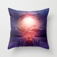 The Space Between Dreams & Reality Throw Pillow by soaring anchor designs