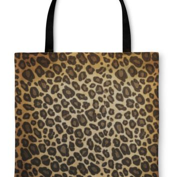 Tote Bag, Leopard Pattern