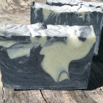 Activated charcoal soap, plus french green clay & baking soda, Naked Pores soap, oily skin, spa treatment