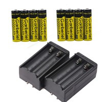 18650 3.7v Rechargeable Li-ion Battery Batteries + Smart Charger(NOT Flat Top,Not AA)