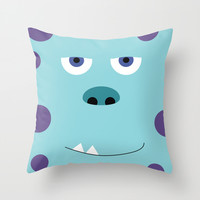 Sully Throw Pillow by Adrian Mentus