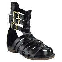 Girls Gladiator Sandals Black