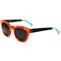 Polarized Vista Horn Rimmed Vintage Sunglasses Orange Red