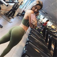 Yoga Women Set Workout Clothing Gym Leggings Fitness Clothing Athletic Wear Jogging Suit Yoga Set Sports Jerseys