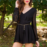 Racing Hearts Romper - Black