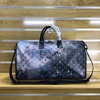 louis vuitton lv new men classic leather large capacity luggage travel bags tote handbag crossbody satchel 37