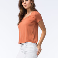 FULL TILT Womens V-Neck Tee