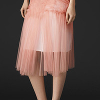 Gather and Pleat Detail Tulle Skirt