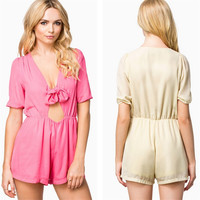 Sexy Hollow Out Butterfly Shaped Slim Women's Fashion Romper [4918901956]
