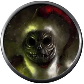 Santa Clause Jack Skellington Scary Face Halloween Town Nightmare Before Christmas 18MM - 20MM Snap Jewelry Charm