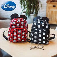Disney 2018 Minnie Girls Backpack Kids Mickey Mouse School Bag New Cartoon   Children Boy Backpacks Nylon Kindergarten Bags