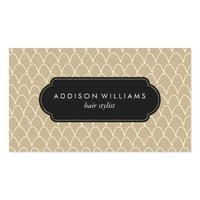 Light Brown Scallops Pattern Professional Business Card