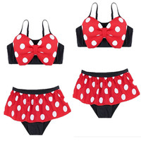 New Bowknot Kids Baby Girl Bikini Set Summer Suit Swimsuit Swimwear Bathing Suit