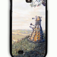 Samsung Galaxy S4 Case - Rubber (TPU) Cover with A rather Dalek Afternoon Rubber Case Design
