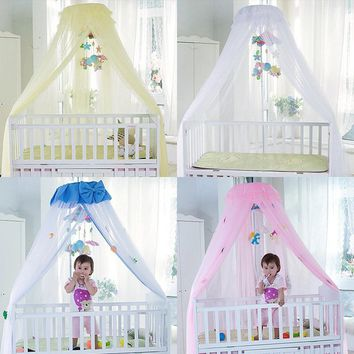 Baby Crib Mosquito Net For Infants Portable Cot Folding Canopy Boys Girls Summer Protector Children's Bed Wigwam