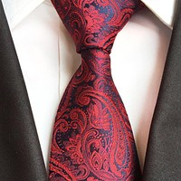 Vintage Paisley Floral Ties For Men Suits Neck Ties Male Polyester Neck Ties