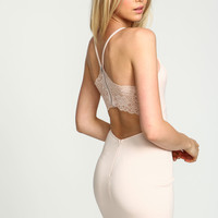 Lace Back Cut Out Bodycon Dress
