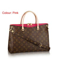 LV Women Shopping Bag Leather Satchel Crossbody Handbag Shoulder Bag